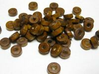 500 Coffee Colour 8X3mm Column Wood Beads~Wooden
