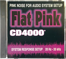 Professional Pink Noise Cd Audio Test Reference Disc - Also Excellent Sleep Aid