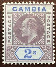 1909 GAMBIA KEDVII Scott # 62 MH