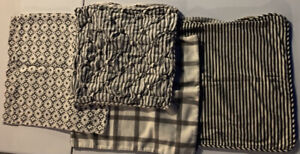 Black & White Pottery Barn & H&M Set of Four Pillow Covers