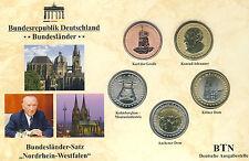 """Bundesländer - Satz  """"Nordrhein - Westfalen"""" UNC"""