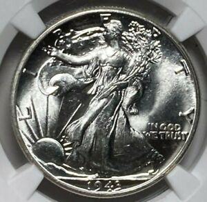1943 NGC MS 63 Walking Liberty Silver US Half Dollar 50C