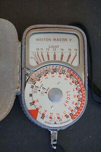 Weston Master V Light Meter 748 Vintage w/ Original Leather Case Not Working