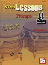 First Lessons Bongo Music Book with Audio Learn How To Play Method Percussion