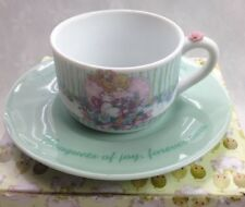 Precious Moments Saucer Cup Set 2001 Friendship Fills The Heart w Flowers 852899