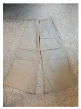 BNWT Khaki/Grey Baggy/Huge Flared/Wide Leg Retro Light Weight Trousers W32