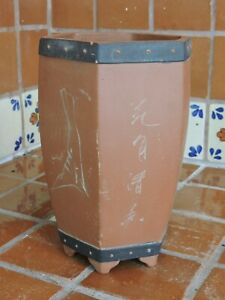 "Yixing 9"" High Quality Unglazed Semi Cascade Style Bonsai Pot Bonsai Pots"