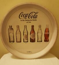 Coca cola In The Distinctive Bottle Round Circle Tray Retro Metal Official