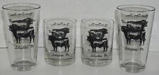 Never Done Farm Leighton PA 2 Double Old Fashioned + 2 Pint Glasses Black Cows