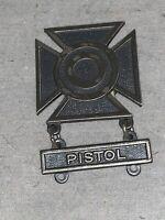 VINTAGE U.S. Army Basic Qualification Pin Back Marksman Badge PISTOL
