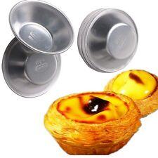 10Pcs Aluminium Alloy Egg Tart  Cake Cookie Mold Lined Mould Tin Baking Tools