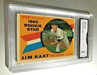 JIM KAAT ROOKIE STAR 1960 Topps #136 GMA Graded 5 EX