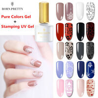 2Pcs/kit Nail Stamping UV Led Gel Polish Pure Gel Colors Set for Image Stamping