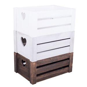Wickerfield Wooden Crate Heart Design Home Storage Decoration Gift Hamper