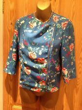 Ladies size 10.Turquoise,pink,white floral top/Jacket.Offset zip.3/4 sleeves.New