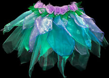 New Girls Fairy Skirt Costume Cosplay Mint and Lilac Extra Small