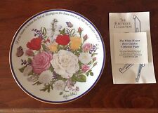 The White House Rose Garden, Collector plate, by Fleetwood New w/Coa