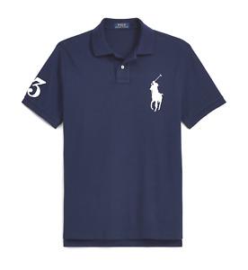 Ralph Lauren Polo Shirt Big Pony #3 BNWT size 1XB Big Size Navy Blue Genuine