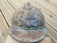 Coque de casque francais WW1 original repeint bleu