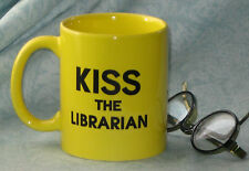 Buffy the Vampire Slayer KISS THE LIBRARIAN Mug - Both sides! Cup Spike Giles