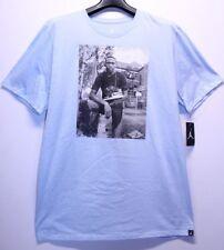 Air Jordan Retro 1 Black Toe Coastal Ice Light Blue T-Shirt Men's Size XL New