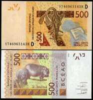 MALI WEST AFRICAN STATES 500 FRANCS 2012 / 2017 P 419 D UNC