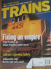 2005 Trains Magazine - Map of ACL + SAL Merger; Caltrain's Baby Bullet Expresses