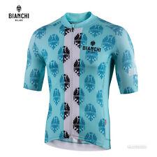 Bianchi Milano RONCACCIO Short Sleeve Cycling Jersey : CELESTE/WHITE