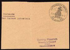 █ Postsache Absender Postamt LUTTERBACH du 25/02/43 █