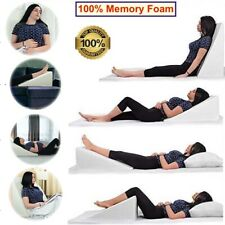 Triangle Bed Wedge Pillow Reduce Back Shoulder Neck Leg Sciatica Pain, Snoring
