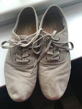 TOM'S men's size uk 10 Canvas Sneakers Grey