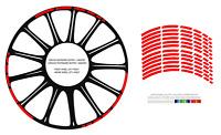 HONDA Strisce adesive per cerchi AUTO MOTO SCOOTER Mod.4
