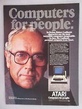 Atari 800 Computer PRINT AD - 1981 ~~ Robert Ludlum