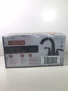Delta Pierce 4 in. Centerset 2-Handle Bathroom Faucet in Matte Black 25899LF-BL