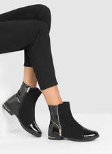 Zip Party Ankle Boots Synthetic Leather Shoes for Women