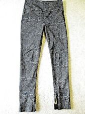 WHYRED Women's Black/Blue Supra Skinny Stretch Zip Ankle Pants 40, U.S. Size 10