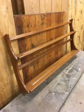 Vintage Mid Century Ercol Elm Wall Hanging Plate Rack in Excellent Condition.