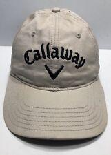 Callaway Cap Hat AeroKool Aviation Beige Adjustable Adult 100% Cotton