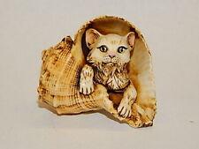 Harmony Kingdom Art Neil Eyre Designs Kitty Cat kitten sea conch shell