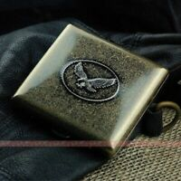 D34 Antique Silver Ultra-thin Gentleman Personality Pure Copper Cigarette Case K