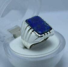 Lapis Lazuli Ring Mens Lajward Ring Shia islamic Ring Lapis Stone Silver Ring