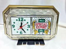 Special Export beer sign lighted back bar clock crystal cut glass vintage topper