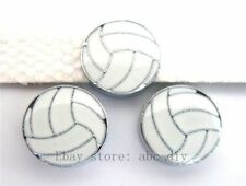 5pcs 8mm volleyball DIY Slide Charm Fit Wristband/Pet Name Collar/strips ZC001
