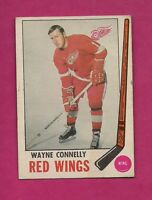 1969-70 OPC # 60 RED WINGS WAYNE CONNELLY GOOD CARD  (INV# 8113 )