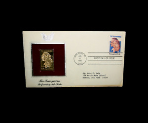Gold Stamp First Day Of Issue The Barrymores Performing Arts New York 1982 Rare