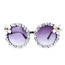 Beach Fashion Sonnenbrille Vintage Strass Shades Handmade Blume Perle Rund