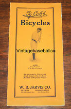 Antique 1913 TY COBB W.B. JARVIS Bike catalog Detroit Tigers baseball