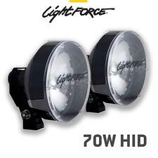 LIGHTFORCE STRIKER 170mm 70 WATT HID DRIVING LIGHTS SPOT NEW 12V LIGHT