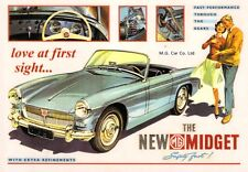 MG Midget Mk 1 1961 Car Jumbo Fridge Magnet