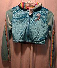 My Little Pony Rainbow Dash  Hoodie Zip - Up Sz 8- 10  Girl's Long Sleeves